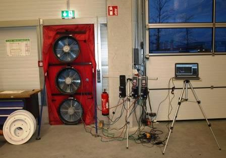 Blower-Door-Test Produktionshalle in Allersberg