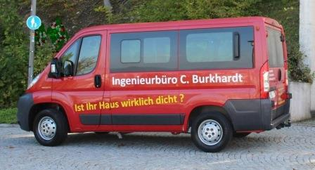 Unser Blower-Door-Test-Bus